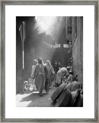 Baghdad Street Scene, 1932 Framed Print