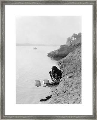 Baghdad Tigris River, 1932 Framed Print
