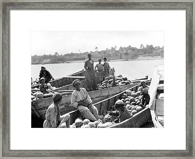 Baghdad Watermelon Barges Framed Print