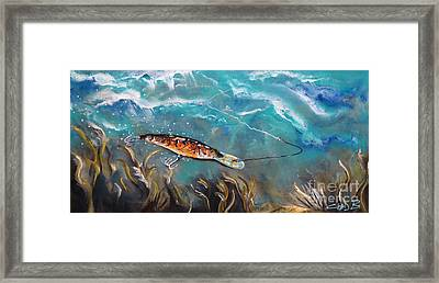 Bagley's Deep Dive Framed Print by Chad Berglund