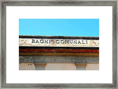 Bagni Comunali Framed Print