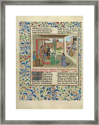 Bagoas Pleads On Behalf Of Nabarzanes Master Of The Jardin Framed Print by Litz Collection