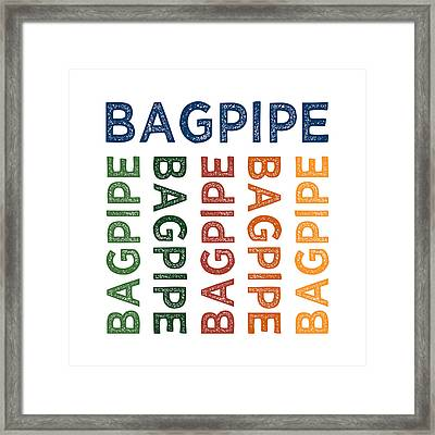Bagpipe Cute Colorful Framed Print by Flo Karp