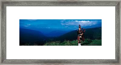 Bagpiper Scottish Highlands Scotland Framed Print