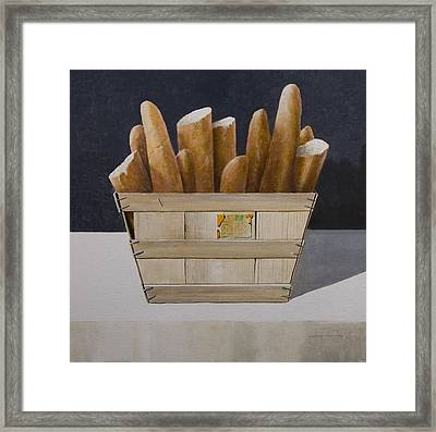 Baguettes, 2010 Acrylic On Canvas Framed Print by Lincoln Seligman