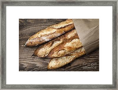 Baguettes Bread Framed Print