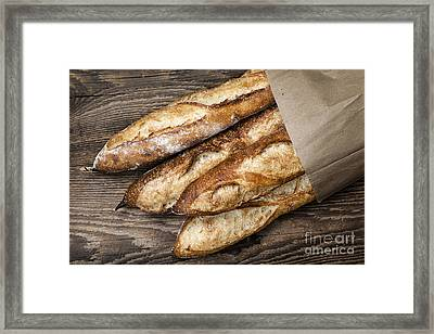 Baguettes Bread Framed Print by Elena Elisseeva