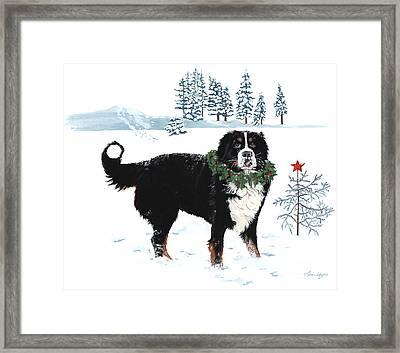 Bah Humbug Merry Christmas Large Framed Print