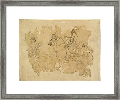 Bahadur Shah On Horseback Framed Print