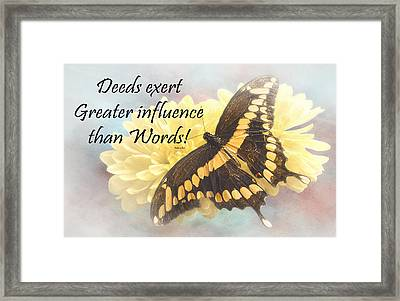 Bahai Butterfly Quote Framed Print