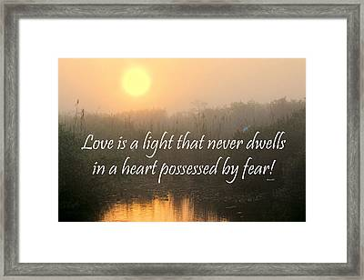 Bahai Quote Sunrise Framed Print by Rudy Umans