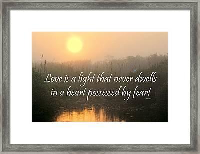 Bahai Quote Sunrise Framed Print