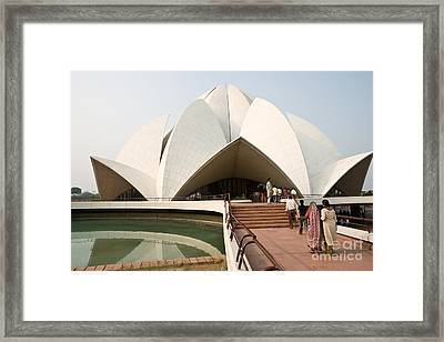 Bahai Temple - New Delhi - India Framed Print