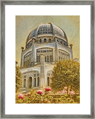 Baha'i  Temple In Wilmette Framed Print by Rudy Umans