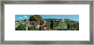 Bahai Temple On Mt Carmel, Haifa, Israel Framed Print by Panoramic Images