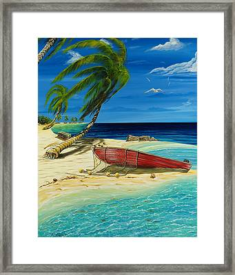 Bahama Beach Framed Print