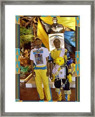 Bahamas Junkanoo Men Framed Print by Linda Cousins-Newton