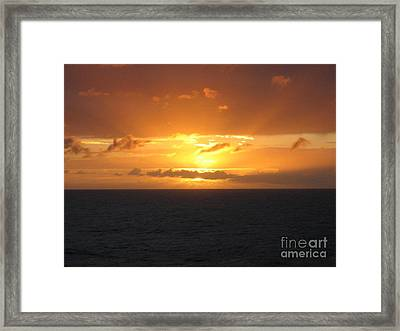 Framed Print featuring the photograph Bahamas Ocean Sunset by John Telfer