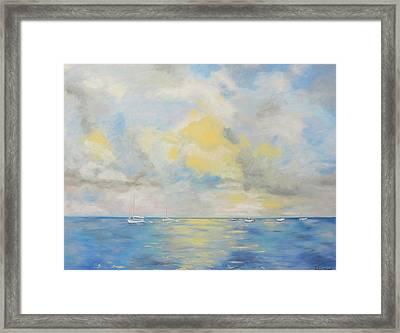 Bahamian Skies Framed Print by Barbara Anna Knauf