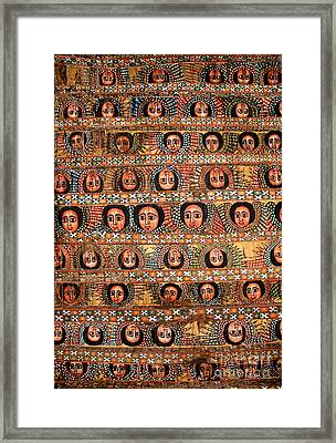 Bahar Bahir Dar Ethiopia Bright Colour Painted Church Ceiling Framed Print