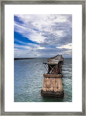 Bahia Honda Bridge By Day Framed Print