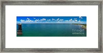 Bahia Honda Bridge Panorama Framed Print