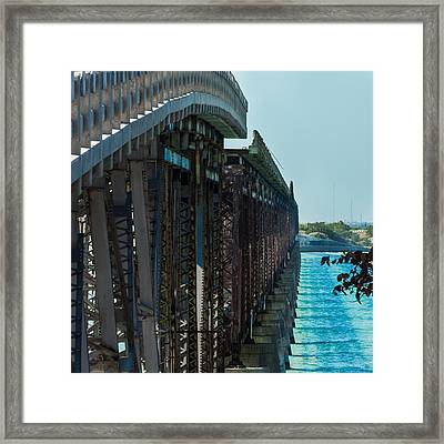 Bahia Honda Bridge Patterns Framed Print