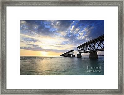 Bahia Honda Old Bridge Framed Print by Eyzen M Kim