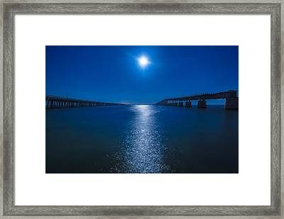 Bahia Moonrise Framed Print by Dan Vidal
