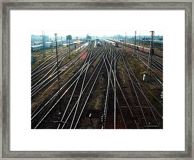 Bahnhof Cottbus Framed Print