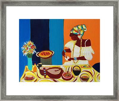Baiana De Acaraje II Framed Print by Fatima Neumann
