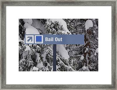 Bail Out Framed Print