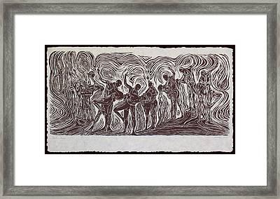 Baila Baila Framed Print by Maria Arango Diener