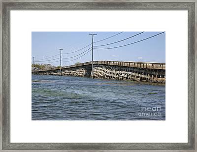 Bailey Island Bridge - Harpswell Maine Framed Print by Erin Paul Donovan