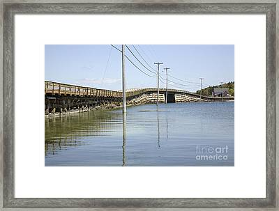 Bailey Island Bridge - Harpswell Maine Usa Framed Print by Erin Paul Donovan
