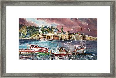 Bailey Island Cribstone Bridge Framed Print