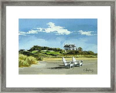 Bailey's Beach Newport Rhode Island Framed Print