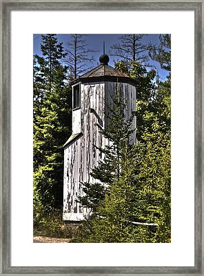 Framed Print featuring the photograph Baileys Harbor Range Lighthouse by Deborah Klubertanz