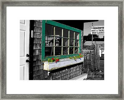 Bait And Tackle Boat Launch Framed Print