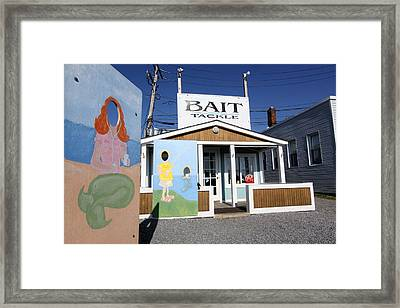 Bait And Tackle Greenport New York Framed Print