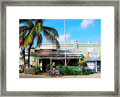 Bait And Tackle Key West Framed Print by Iconic Images Art Gallery David Pucciarelli