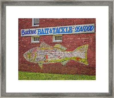 Bait Tackle Seafood Shop Detail Framed Print by Jerry Gammon