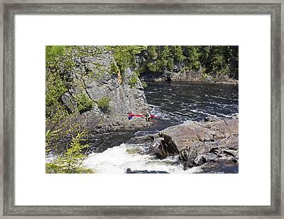 Baiting The Hooks Framed Print by Sandy Snide