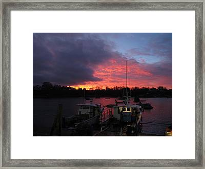 Baiting Up At Glen's Lobster Framed Print