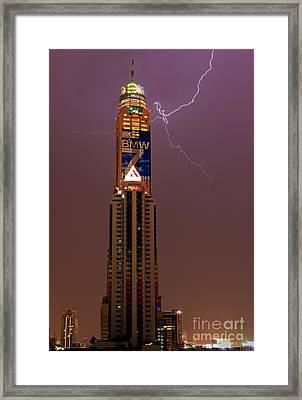 Baiyoke Sky Hotel  -  Strike One. Framed Print by Pete Reynolds