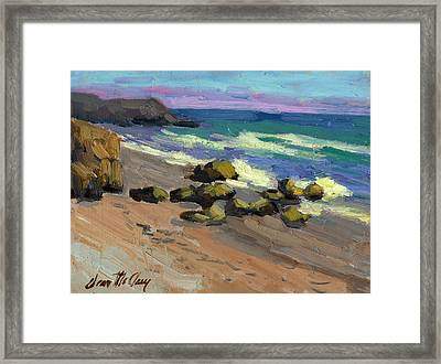 Baja Beach Framed Print by Diane McClary
