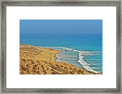 Framed Print featuring the photograph Baja California - Desert Meets Ocean by Christine Till