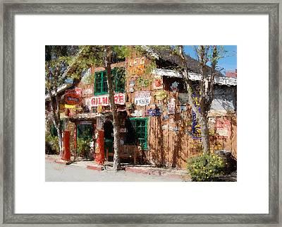 Baja Cantina - Carmel Valley Ca Framed Print