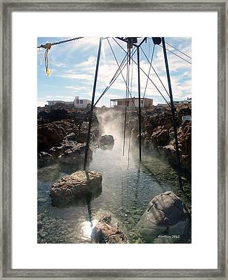 Framed Print featuring the photograph Baja Hot Springs by Dick Botkin