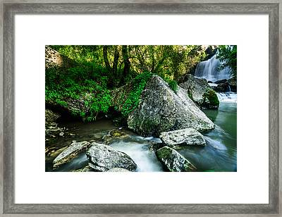 Bajouca Waterfall Framed Print by Marco Oliveira